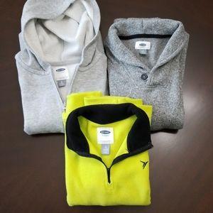 Old Navy Bundle 3 Sweater, Fleece Knit & Hoodie